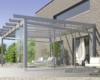 Modernes Glasdach AREA-classic mit Glasdach und Schiebeelementen