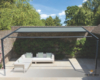 Pergola-Markise Brustor B-128 in anthrazit RAL 7016