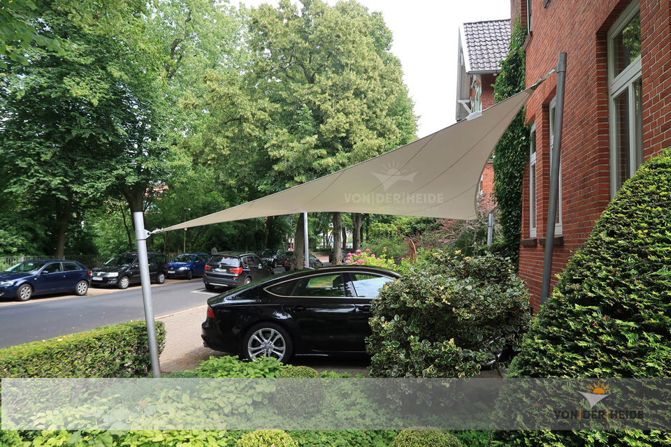 Carport-Sonnensegel