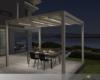 Q-Bus Falt-Pergola Leiner-Sunrain mit LED-Beleuchtung