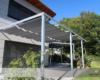 Raff-Sonnensegel Soliday mit Tuch Austronet in der Farbe Stone in Tagesklinik Uelzen