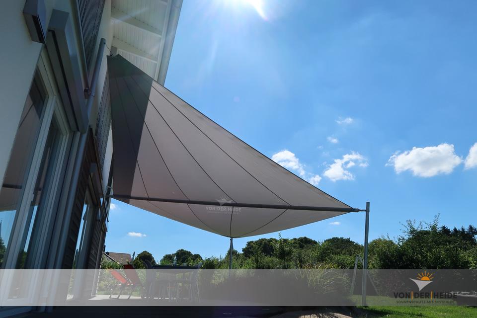 Motorisch aufrollbare Sonnensegel